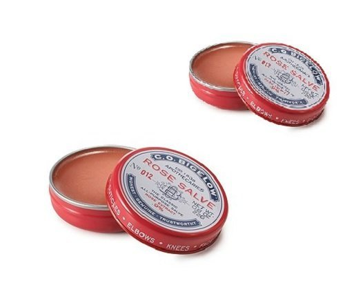 C.O. Bigelow All Purpose Classic Rose Salve Lip Balm, .8 Oz (22g) Tin, 2 Pack (Bigelow Lip Balm)