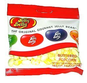 Jelly Belly Single Flavor Beans - Buttered Popcorn - 3.5 oz. - 12 Pack
