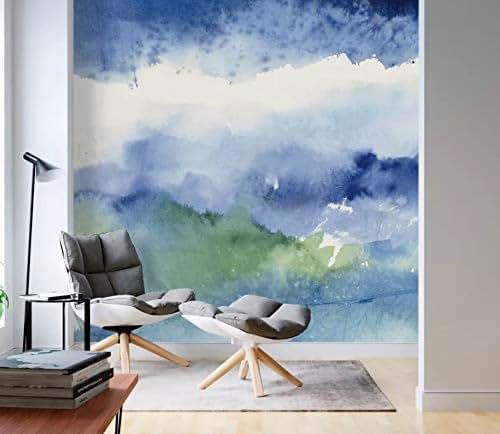 Splash Colorful Room Wall: Amazon.com: Murwall Brush Wallpaper Blue Green Splash Wall