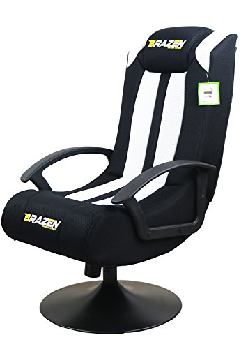 BraZen Stag 2.1 Bluetooth Surround Sound Gaming Chair White/Black