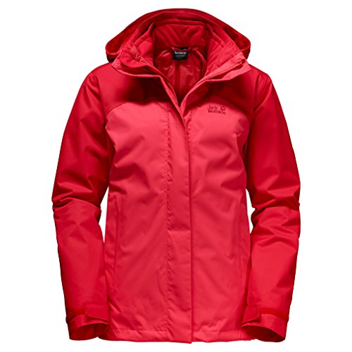 Jack Wolfskin ECHO BAY 3 in 1 Chaqueta doble Mujeres hibiscus-red