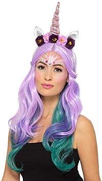 Mujer unicornio Mítico CRIATURA Maquillaje Pintura facial Gemas festival carnaval disfraz Kit de accesorios: Amazon.es: Productos para mascotas