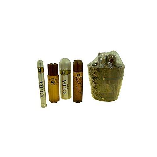 Cuba Gift Set 4 Pieces (3.4 Eau De Toilette Spray + 6.7 Deodorant Spray + 1.2 oz. Spray + 3.4 oz. Aftershave Spray) Men by Cuba Perfumes Cuba Deodorant Eau De Parfum