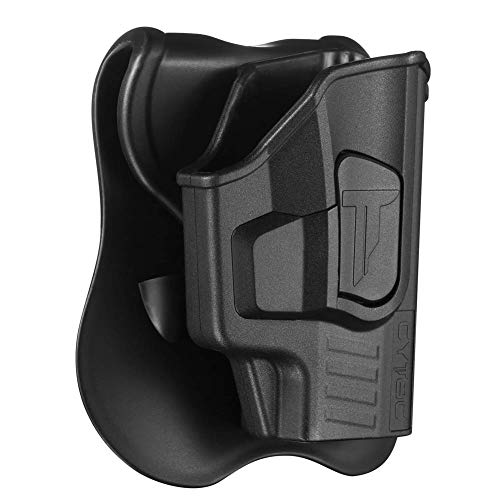 Sig P365 Holsters, OWB Holster for Sig Sauer P365 Micro-Compact Size 9mm Pistol W/O Light or Laser, Polymer Technical Outside The Waistband Carry Belt Holster with 360 Rotations Paddle-Right Handed