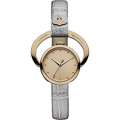 Vivienne Westwood Women's VV082RSGY Horseshoe Analog Display Swiss Quartz Grey Watch