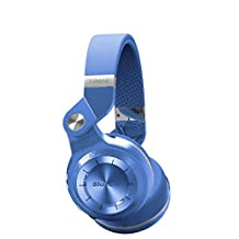 Bluedio T2 Plus Turbine Wireless Bluetooth Headphones with Microphone/Micro SD Card Slot/FM Radio, Blue