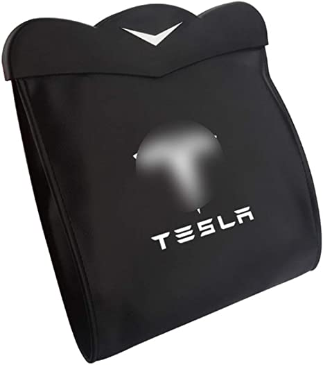 Aceolt Mülltonnen Tasche Auto Mülleimer Mülleimer Fahrzeug Müllcontainer Rücksitz Hängen Organizer Für Tesla Model 3 Küche Haushalt