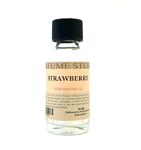 - Strawberry Perfume Oil for Perfume Making, Personal Body Oil, Soap, Candle Making & Incense; Splash-On Clear Glass Bottle. Premium Quality Undiluted & Alcohol Free (1oz, Strawberry Fragrance Oil)