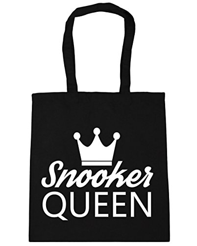HippoWarehouse billar Reina bolsa de la compra bolsa de playa 42cm x38cm, 10litros negro