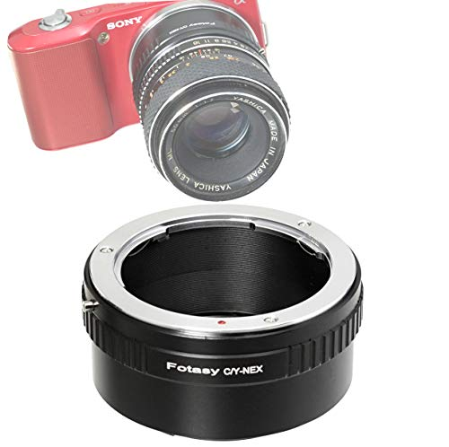 Fotasy CY Lens to Sony E-Mount Adapter, Compatible with Contax Zeiss C/Y Lens & Sony E-Mount Camera NEX-5T NEX-6 NEX-7 a3000 a3500 a5000 a5100 a6000 a6300 a6400 a6400 a6500 etc C/y Contax Yashica Lens