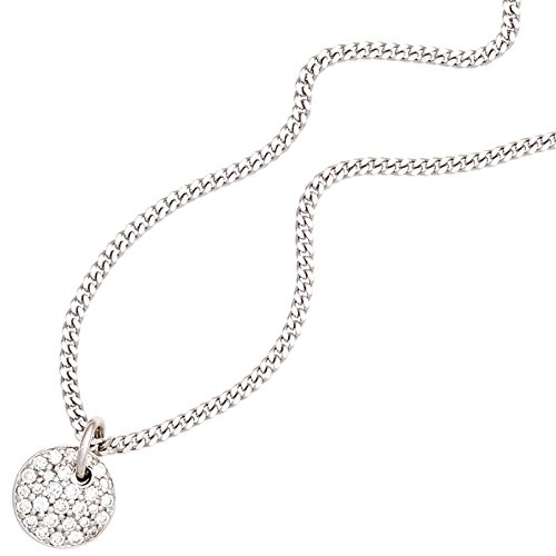 Pendentif 9,5 mm avec 29 diamants brillants ronds-femme-or blanc 585