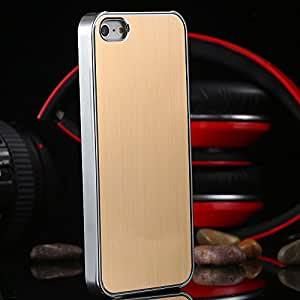 i5 Gold Metal Aluminum Plating PC Case For Apple iphone5 5 5G with Logo Mobile Phone Accessories Hard Back Cover for iphone 5S --- Color:Blue