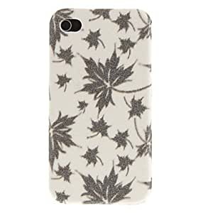 Shimmering Maple Leaves Pattern Protective Hard Case for iPhone 4/4S (Assorted Colors) - COLOR#Brown