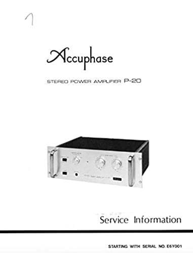 accuphase p20 p 20 stereo power amplifier service manual accuphase rh amazon com accuphase a70 service manual accuphase p 300 service manual