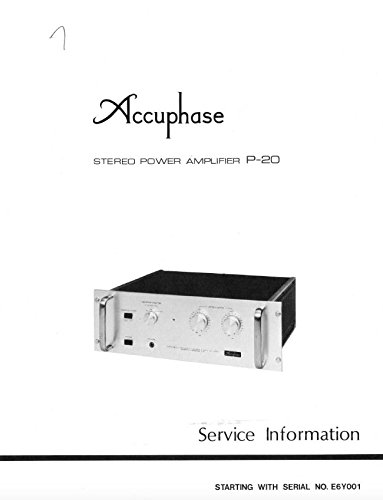 accuphase P20 P-20 stereo power amplifier service manual
