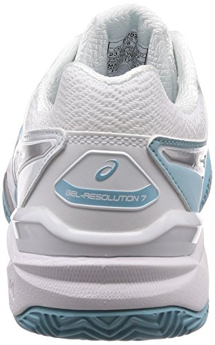 Chaussures Blue 7 porcelain silver Femme 1493 Tennis resolution De Clay Gel white Multicolore Asics qITgwRv