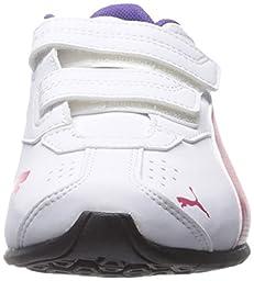 PUMA Tazon 6 SL Wide Kids Sneaker (Toddler/Little Kid/Big Kid) , White/Rose Red/Prism Violet, 5 M US Toddler