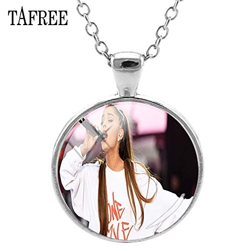 Pendant Necklaces - Ariana Grande Pendant Necklace for Women One Love Manchester Round Choker Women Silver Necklace Jewelry QF689 - by TAFAE - 1 PCs