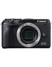 Canon EOS M6 Mark II systeemcamera behuizing, body (32,5 megapixels, APS-C CMOS-sensor 7,5 cm (3,0 inch), lcd-aanraakscherm, scherm, Digic 8, 4K-video, wifi, bluetooth), zwart