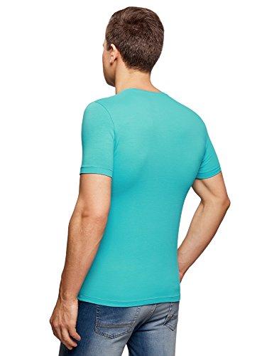 Oodji 7300n Camiseta Etiqueta Sin Hombre Básica Turquesa De Algodón Ultra rwn4xZHr