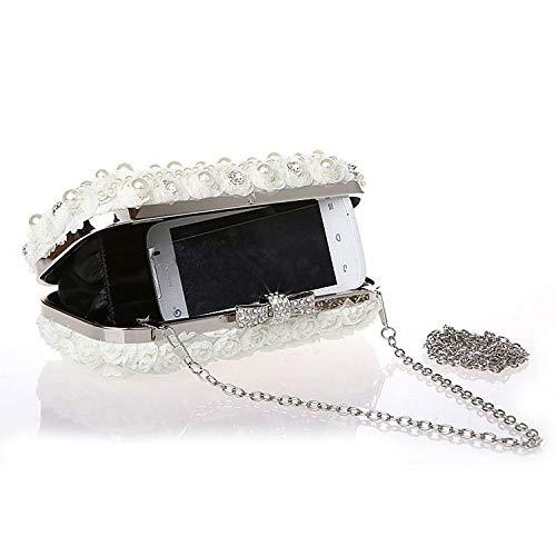 Pochette couleur Diamant Pour Soirée De En À Sac Main Femme Mousseline Champagne Black ZvqrZ