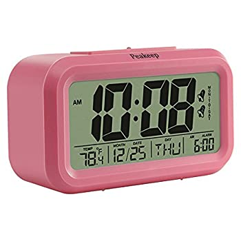 digital alarm clock. peakeep digital alarm clock with 2 alarms for weekdays manual snooze and light battery r