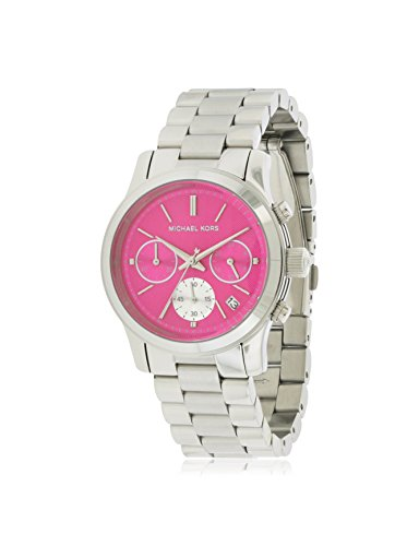 Michael Kors Women's Runway Watch, Silver/Pink, One Size