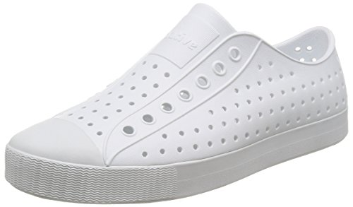 native Unisex Jefferson Fashion Sneaker, Shell White/Shell White,6 US Men/8 US Women