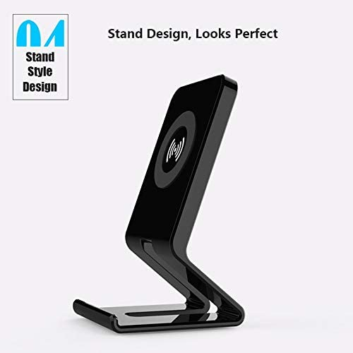 WXJHA Caricabatterie Wireless, 5W Max Wireless Charging Stand, Compatibile con iPhone 11 / 11Pro / 11Pro Max/XS Max/XS/XR/X / 8/8 + / Samsung S10 / S10 + / S9 / S9 + / S8 / S8 +
