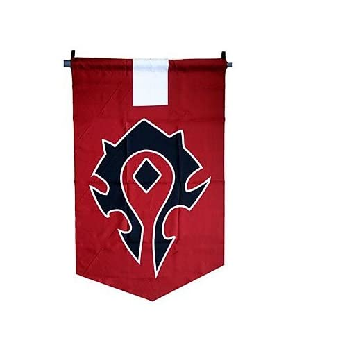 QINF World of Warcraft The Horde Cosplay Flag