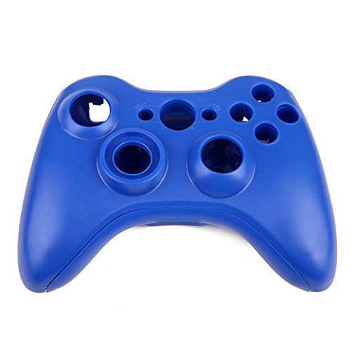 (HDE Replacement Shell for Xbox 360 Wireless Controllers Includes Shell Buttons Thumbsticks Torx Screwdriver Replacement Case Cover and Tool Kit - Blue)