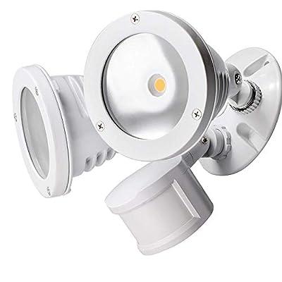 TOPELE LED Security Motion Sensor Flood Light, Super Bright 2200LM Aluminum Outdoor Floodlight, 24W (150W Equivalent),4000k Daylight,Adjustable Head, Waterproof IP65 & ETL Listed,120 Volts, White
