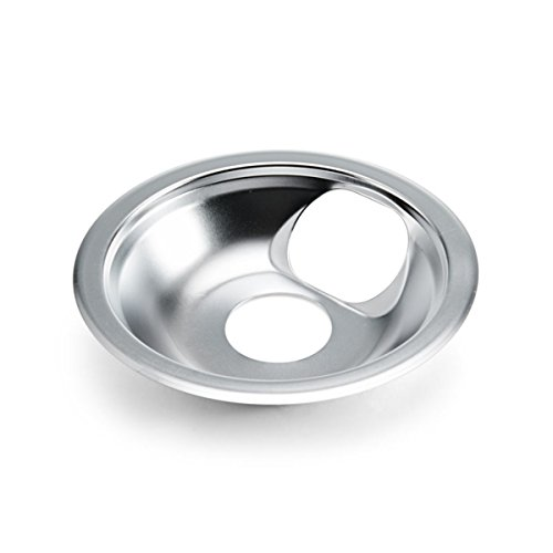 Farberware Classic Universal Stovetop Drip Pan with Square Slit, 6-Inch, Chrome