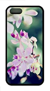 iPhone 5S Customized Unique Orchids 4 New Fashion Black iPhone 5/5S Cases - Scenery Flowers