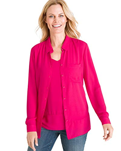 Twin Set Shirt - Chico's Women's Solid Twin Set Size 16/18 XL (3) Pink