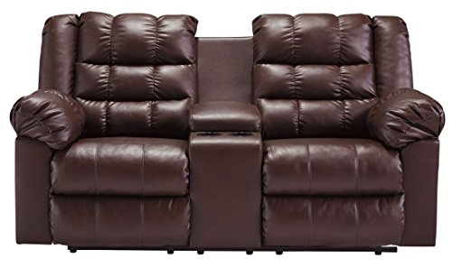 Signature Design by Ashley 8320294 Brolayne DuraBlend Collection Reclining Loveseat with Console, - Theater Collection Seating