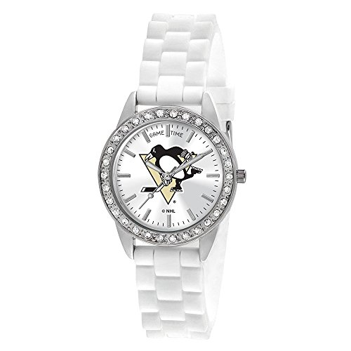 """Game Time Women's NHL-FRO-PIT """"Frost"""" Watch - Pittsburgh Penguins"""