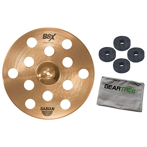 (Sabian 41600X 16in B8X O-Zone Series Crash Cymbal Bundle w/Felts and Cloth)