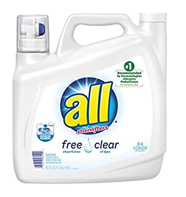 All with Stain Lifters Free and Clear Liquid Detergent