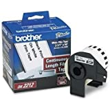 """Brother DK-2212 Continuous Length Film Label Roll (2-3/7"""" Wide) - Retail Packaging"""