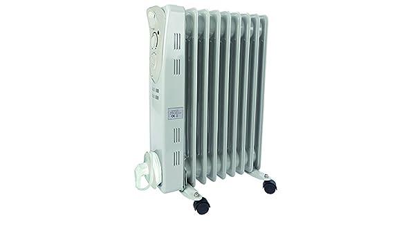 Radiador de aceite 2000 W 3stufen 9rippen 60 x 41 x 12 cm calefactor eléctrico Radiador de calefacción: Amazon.es: Hogar