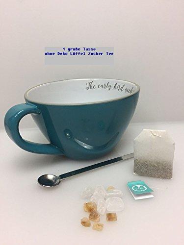 Sagaform Tee Kaffee Kakao Becher Suppen Becher türkis ca.700 ml The early bird needs Tea