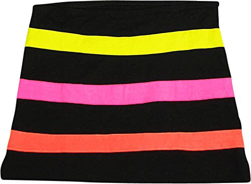 Flowers by Zoe - Little Girls' Striped Skirt, Black, Multi 33507-5 ()