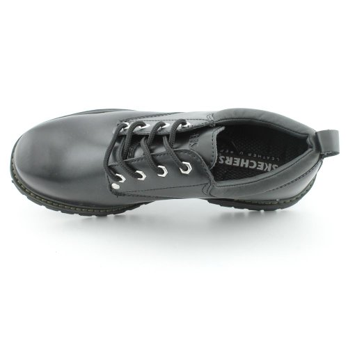 Skechers USA vicolo Gatto di scarpe Black Oily Leather (BOL)