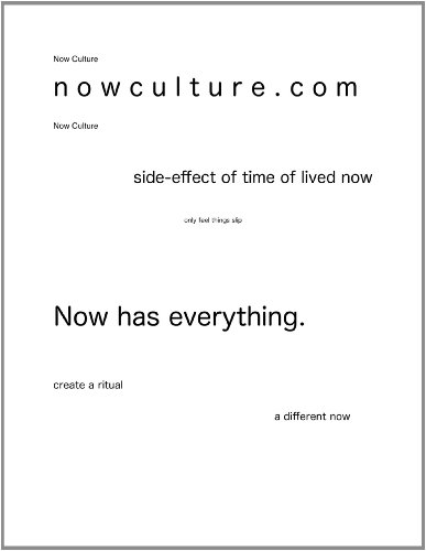 Now Culture lit mag - Myer Knox