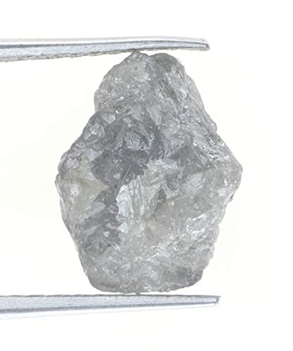 Kakadiya Group Natural Sparkling Unique White Grey Color 4.07 Ct. Earth Mined Raw Uncut Rough Diamond