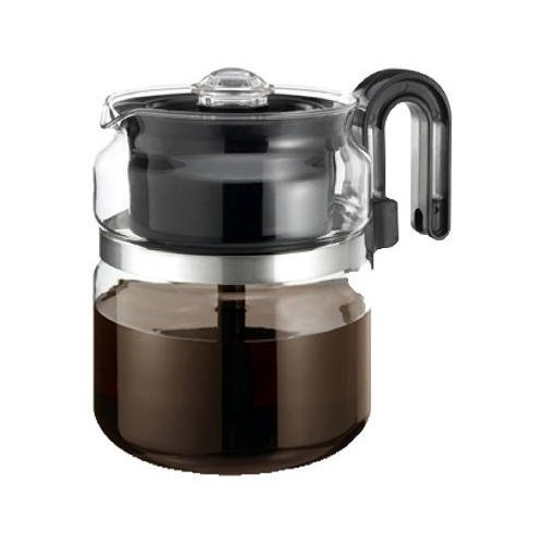 One-All Stovetop Percolator 8 Cup 7'' Dia. X 5.6'' H Black Handle