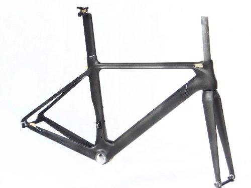 フルカーボンマット700cロードバイク自転車BSAフレームフォークシートポストクランプ56cm   B00EQOS1V6
