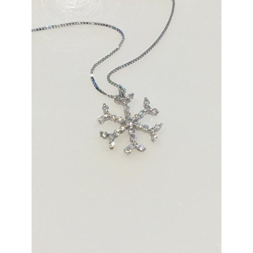 Collier Flocon de Neige Femme 10278338 or blanc diamant