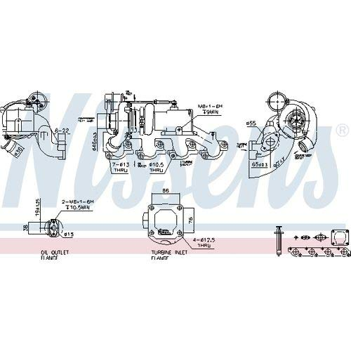 Nisss 93207 Turbo Charger: